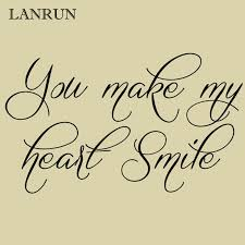 You Make My Heart Smile Quote Wall Sticker Lanrun5511 Vinyl Creative Removable Cut Wall Decal Art Lettering Home Decor Home Decor Smile Quoteswall Sticker Aliexpress