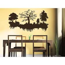 Shop Trees Roots Wall Decal Forest Landscape Nature Vinyl Sticker Decal Size 33x45 Color Black Overstock 14198996