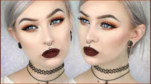 90 s grunge glam autumn leaves makeup