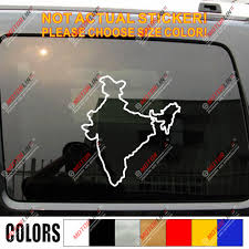 Republic Of India Country Map Outline Decal Sticker Car Vinyl Indian Car Stickers Aliexpress