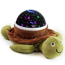Housebeat Baby Nursery Star Night Light Projector Fun 4 Color Rotating Stars Night Star Lamp For Kids Unique Gifts For Kids Babyshower Gifts For Boys And Girl Turtle Starry Night