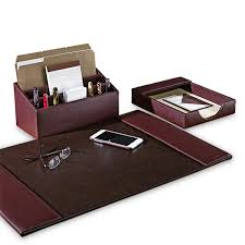 office accessories brown color leather