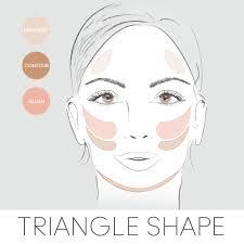 corrective makeup for diamond shaped