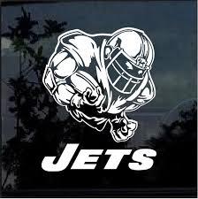New York Jets Football Player Window Decal Sticker Custom Sticker Shop