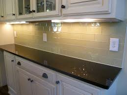 glass subway tile kitchen backsplash