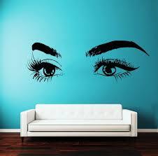 Amazon Com Eyelashes Decal Eyelashes Eye Wall Decal Eyelashes Eye Wall Sticker Girls Eyes Eyebrows Wall Decor Beauty Salon Decal Make Up Wall Decor Kau387 Handmade