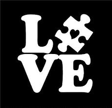 Amazon Com Dixies Decals Autism Love Puzzle Piece With Heart Car Truck Window Glass Laptop Notebook White 4 Inc Autism Stickers Autism Decals Puzzle Pieces