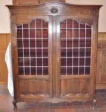 Antike Vitrine Bucherschrank Grunderzeit Louis Philippe Glas