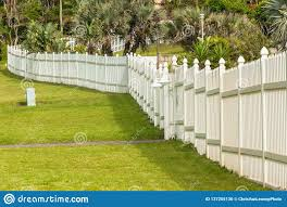 Boundary Fence Vertical Slat Stock Photo Image Of Home Walls 137205130