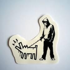 Banksy Sticker On Clear Vinyl Decal Barking Dog Keith Haring Street Art Graffiti 1 99 Picclick Uk