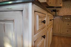 distressed white kitchen cabinets 3