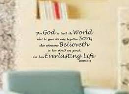 John 3 16 Bible Verse Quote For God So Loved The World Wall Art Vinyl Decal Ebay