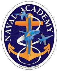 Anchors Away Oval Stickers For Annapolis And Usna