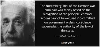 albert einstein quote the nuremberg trial of the german war