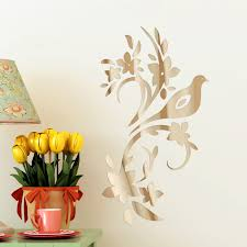 Winston Porter Goulart Bird Tree Mirror Wall Decal Wayfair