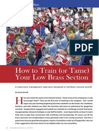 How to Train (or Tame) Your Low Brass Section | Brass Instruments |  Classroom