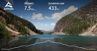 lake agnes trail alberta canada