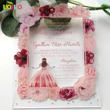 Tarjeta Acrilica Con Flores De Impresion Colorida Tarjeta De