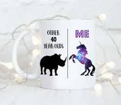 birthday mug 40th birthday gift