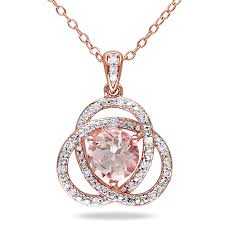 silver diamond pendant necklace
