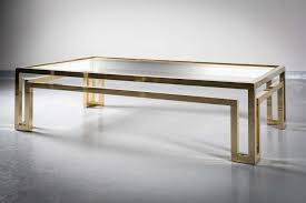 a gilt metal coffee table 1970s with