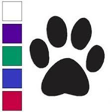 Dog Paw Print Decal Sticker Choose Color Large Size Lg212 Ebay