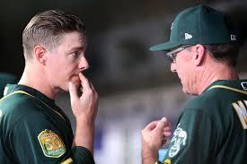 Bob Melvin, Ryan Buchter - Ryan Buchter Photos - Oakland Athletics vs.  Texas Rangers - Zimbio