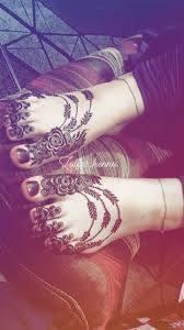 New Style Simple Khafif Mehndi Design For Legs