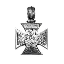 sterling silver maltese cross pendant