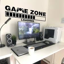 Gamer Wall Sticker Game Zone Loading Gamer Wall Stickers Etsy In 2020 Gamer Decor Boys Game Room Game Room Design