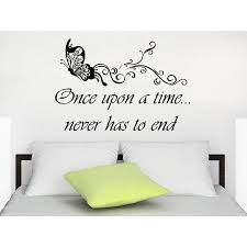 Shop Quote Once Upon A Time Never Has To End Wall Art Sticker Decal Overstock 11947368