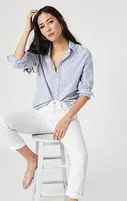 Mavi Women's Ada Boyfriend In White Ripped Stretch – Mavi Jeans