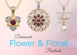 flower with a flower diamond pendant