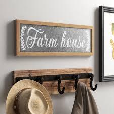 Laurel Foundry Modern Farmhouse Farm House Galvanized Metal Wall Decor Reviews Wayfair