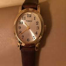 neat womens watch with leather band