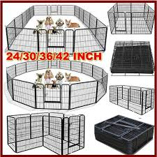 Black 24 30 36 42 Tall Wire Fence Portable Folding Dog Animal Pet Playpen Metal Playpen Pet Supplies Wish