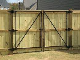 Gates Are Installed On 6 6 Wood Posts Regardless Of Fence Height And Wooden Gate Designs Wood Gate Wood Fence