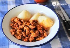 zorza o picadillo con patatas receta
