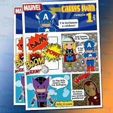 Invitaciones Superheroes Marvel Invitaciones De Avengers
