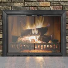 savannah masonry glass fireplace door