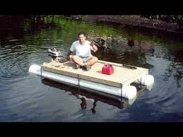diy pvc pipe pontoon boat homemade