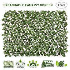 Amazon Com Garden Land Artificial Leaf Faux Ivy Expandable Stretchable Privacy Fence Screen 2pc Single In 2020 Privacy Fence Screen Fence Screening Artificial Leaf