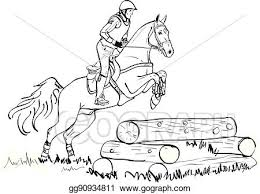Vector Stock Overcoming Of Cross Country Obstacles In Horse Symbol Vector Clipart Illustration Gg90934811 Gograph