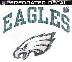 Amazon Com Stockdale Technologies Eagles Sd24999 12 Large Perforated Auto Window Film Glass Decal Football Automotive