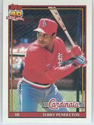 1991 Topps 40th Terry Pendleton #485 on Kronozio