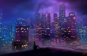 city skysers 80s neon