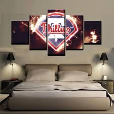 Philadelphia Phillies Team Sport 5 Panel Canvas Art Wall Decor Canvas Storm