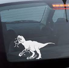 T Rex Eating Stick Figure Family Car Decal Graphic Decal Vinyl Decal Decal Car Sticker Family Car Decals Funny Car Decals Car Decals
