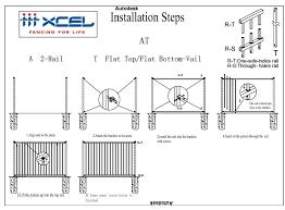 2 Rail Vail Fence Panels Desain Dan Pasokan Instalasi Xcel
