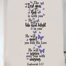 Enchantingly Elegant The Lord Your God Is With You Vinyl Wall Decal Wayfair